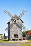 Windmill in ethnocultural complex Nanosy-Novoselye. It is historical recreation complex, which royalty free stock photo