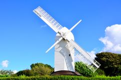 Windmill. An example of a windmill with two sails, located in Southern England Royalty Free Stock Images