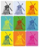 windmill för konstpopukrainare Royaltyfri Bild