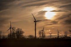 Windmill farm Stock Photos