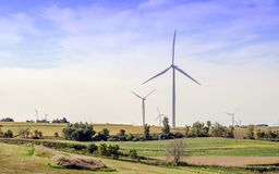 Free Windmill Farm Landscape In The Midwest Royalty Free Stock Photography - 101191687