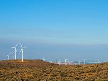 A Windmill Farm on a Mountain Stock Image