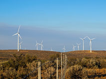 A Windmill Farm on a Mountain Royalty Free Stock Image