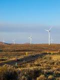 A Windmill Farm on a Mountain Royalty Free Stock Photo