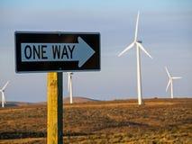 A Windmill Farm on a Mountain Stock Photography