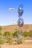 Windmill on the farm in Namibia Royalty Free Stock Photo