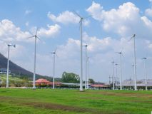 Windmill Farm in Thailand Stock Image