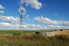 Windmill in Field Stock Images
