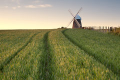 Windmill in a Field Stock Photos
