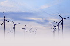 Windmill field Stock Image