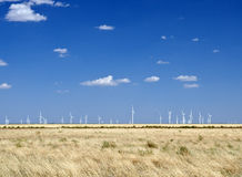 Windmill field. Group of windmills in a North Texas field Stock Photos