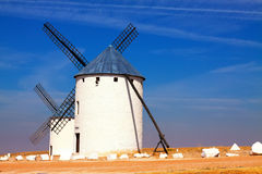 Windmill in field Stock Photography