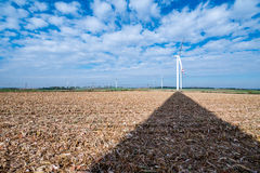 Windmill on the field Stock Image