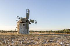 Windmill in Field Royalty Free Stock Photos