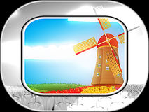 Windmill on field Royalty Free Stock Images