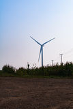 Windmill on field Royalty Free Stock Photography