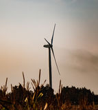 Windmill on field Royalty Free Stock Image