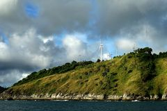 Windmill For Renewable Energy On The Island Royalty Free Stock Photo