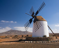 Windmill on Fuerteventura,  Canary Islands Royalty Free Stock Images