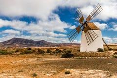 Windmill - Fuerteventura, Canary Islands, Spain Royalty Free Stock Photography