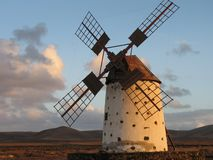 Windmill on Fuerteventura Island Royalty Free Stock Images