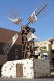 windmill from Fuerteventura island Canary islands Spain Stock Photos