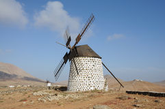 Windmill on Fuerteventura Spain Stock Photo