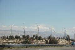 Windmill Generating Electricity  Stock Photo