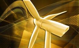 Windmill generator power plant Royalty Free Stock Image