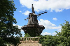 A Windmill in Germany, Europe. Beautiful Blue Sky Stock Photography