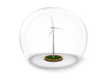 Windmill in glass bowl Royalty Free Stock Photography