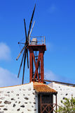 Windmill on Gomera Royalty Free Stock Images