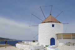 Windmill in good condition in Koufonsion Greece Royalty Free Stock Images