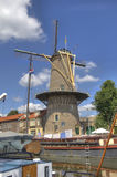 Windmill in Gouda, Holland Stock Image