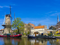 Windmill Gouda Holland Royalty Free Stock Images