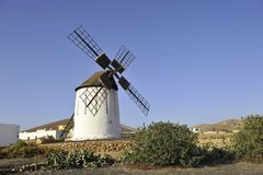 Windmill in the Grand Canaria Royalty Free Stock Images