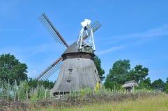 Windmill of Grebin,holstein Switzerland,Germany. Windmill of Grebin in holstein Switzerland near Eutin and Malente,Schleswig-Holstein,Germany Royalty Free Stock Photos