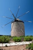 Windmill in Greece Stock Photos