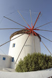 Windmill greek islands Stock Image