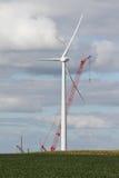 Windmill green energy construction Stock Photo