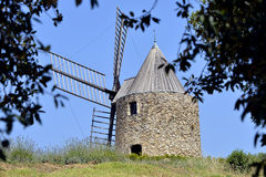 Windmill at Grimaud in France Royalty Free Stock Image