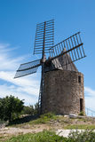 Windmill in Grimaud, France Stock Images