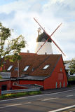 Windmill in Gudhjem, Bornholm, Denmark Stock Photos