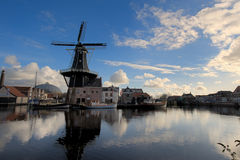 Windmill in Haarlem Stock Photography