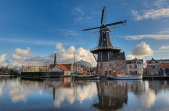 Windmill in Haarlem stock image