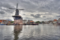 Windmill of Haarlem, Holland Stock Images