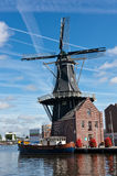 Windmill in Haarlem Royalty Free Stock Photography