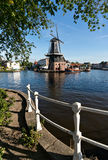 Windmill in Haarlem Stock Image
