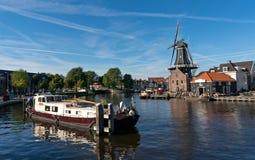 Windmill in Haarlem Stock Photos