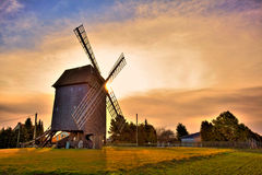 Windmill HDR. Hdr-image of a windmill at sunrise Royalty Free Stock Photos